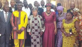 The President of Liberia Visits GEWC Headquarters, Sinkur, Liberia