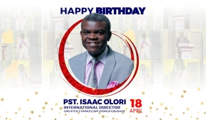 Happy Birthday Pastor Isaac V. Olori