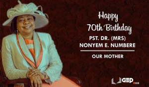 Happy 70th Birthday to our Matriach: Pastor Nonyem E. Numbere
